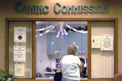 Gaming Commission Front Window