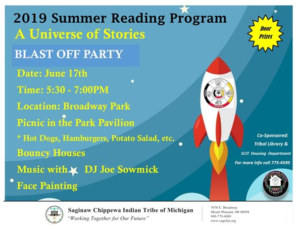 2019 Summer Reading Program - Saginaw Chippewa Indian Tribe