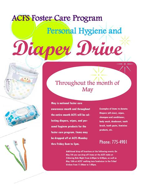 ACFS Foster Care Program Personal Hygiene and Diaper Drive - Saginaw ...