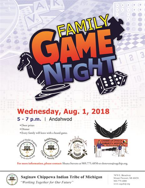 AISM Family Game Night - Saginaw Chippewa Indian Tribe