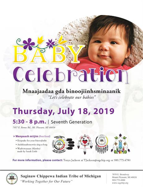 Baby Celebration - Today! July 18, 2019 from 5:30 - 8 p m  | Seventh