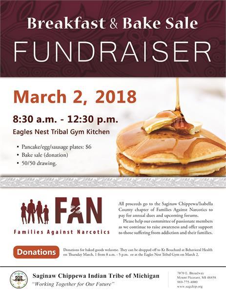 Breakfast & Bake sale Fundraiser - Saginaw Chippewa Indian Tribe