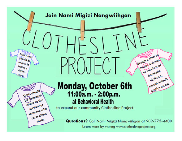 clothesline project Anchorage cops for community is a local non-profit check out how you can get involved and help your local law enforcement make a difference in the community.