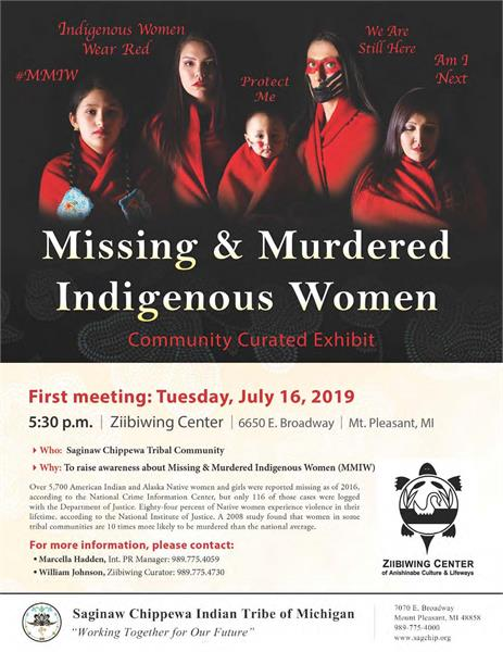 Missing & Murdered Indigenous Women - Saginaw Chippewa Indian Tribe