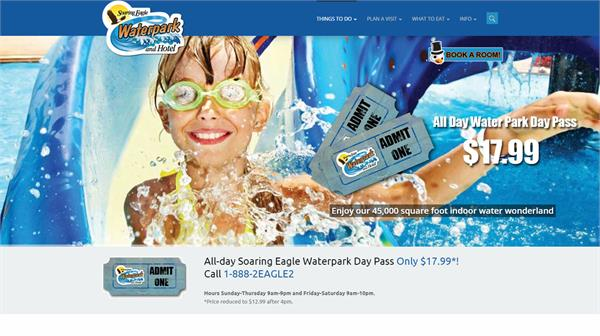 New Soaring Eagle Waterpark Website! - Saginaw Chippewa Indian Tribe