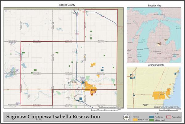 Saginaw Chippewa Isabella Reservation Map Saginaw Chippewa
